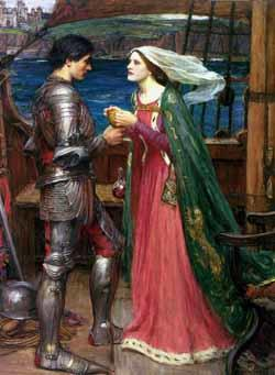 John William Waterhouse: Tristan and Isolde with the potion. Quelle: wikimedia