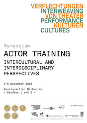»Actor Training: Intercultural and Interdisciplinary Perspectives«