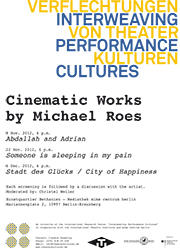 Poster »Cinematic Works by Michael Roes«