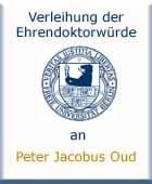 Peter Jacobus Oud - Ehrenpromotion am 18.06.1959