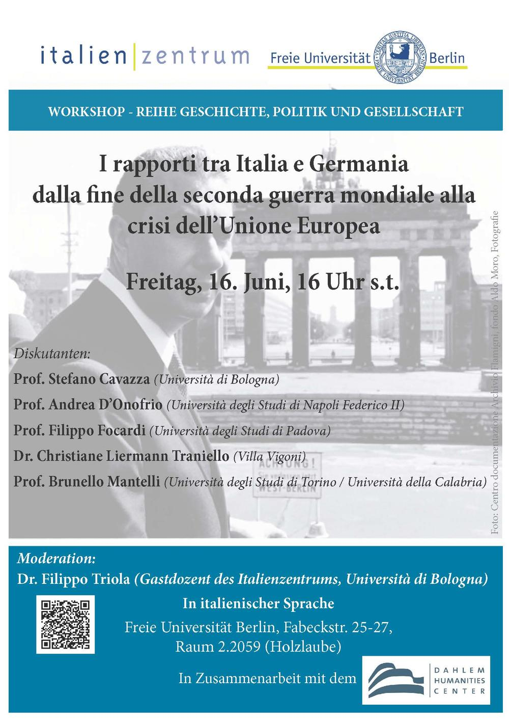 Volantino Workshop Italia - Germania