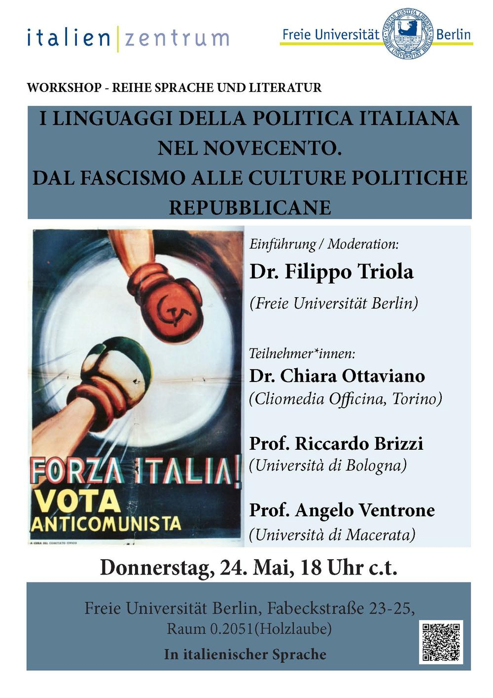 Flyer Workshop Comunicazione Politica