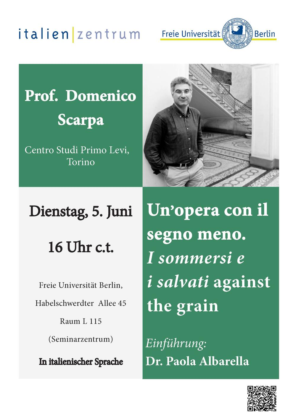 Flyer Domenico Scarpa