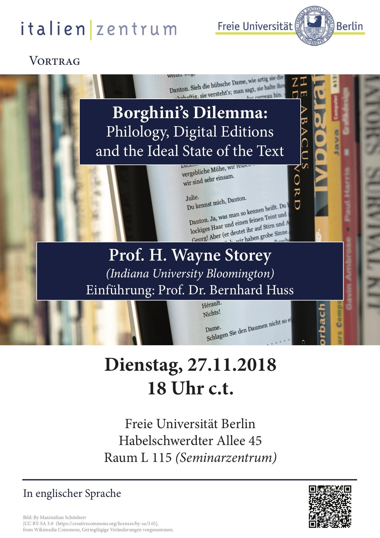 Borghinis Dilemma Philology Digital Editions And The Ideal State