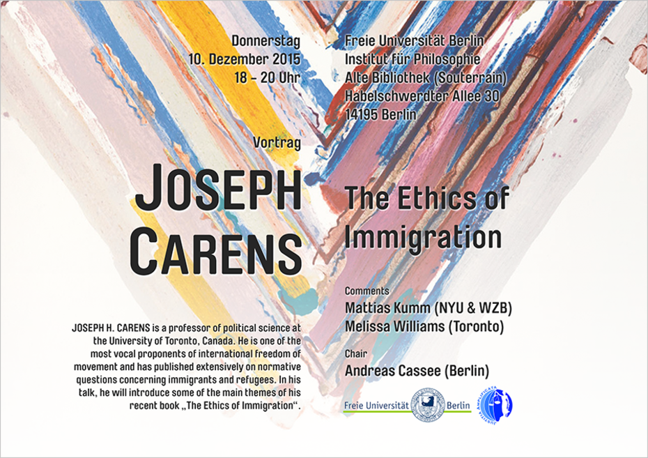 Joseph Carens - The Ethics of Immigration