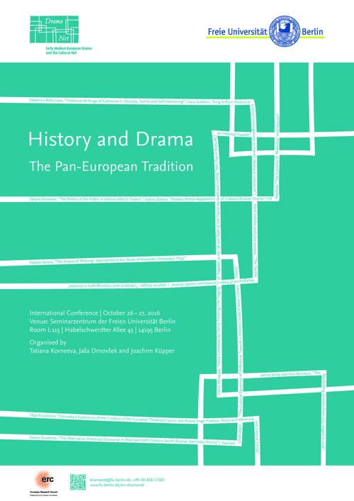 Conference poster History and Drama, October 2016